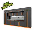 Proslat Fusion Pro 14-Piece Garage Cabinet Set - The Works (Orange)