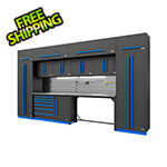 Proslat Fusion Pro 14-Piece Garage Cabinetry System - The Works (Blue)