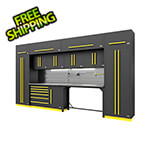 Proslat Fusion Pro 14-Piece Garage Cabinetry System - The Works (Yellow)