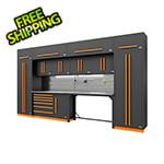 Proslat Fusion Pro 14-Piece Garage Cabinetry System - The Works (Orange)