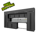 Proslat Fusion Pro 14-Piece Garage Storage Set - The Works (Black)