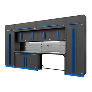 Fusion Pro 14-Piece Garage Storage Set - The Works (Blue)