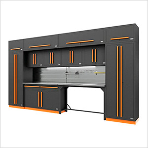 Fusion Pro 14-Piece Garage Storage Set (Orange)