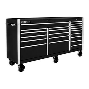 "Black 72"" Rolling Tool Chest with Work Surface"