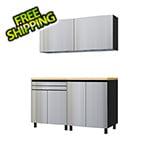 Contur Cabinet 5' Premium Stainless Steel Garage Cabinet System with Butcher Block Tops