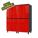 Contur Cabinet 5' Premium Cayenne Red Garage Cabinet System