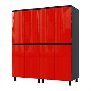 5' Premium Cayenne Red Garage Cabinet System