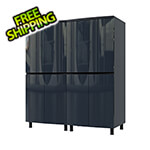 Contur Cabinet 5' Premium Karbon Black Garage Cabinet System