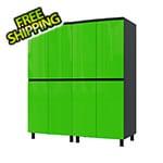 Contur Cabinet 5' Premium Lime Green Garage Cabinet System