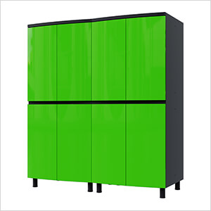 5' Premium Lime Green Garage Cabinet System
