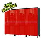 Contur Cabinet 7.5' Premium Cayenne Red Garage Cabinet System