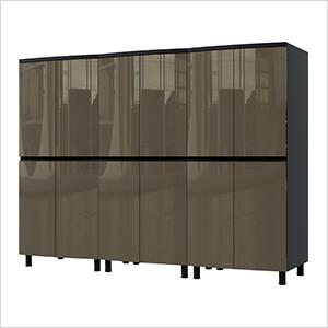 7.5' Premium Terra Grey Garage Cabinet System