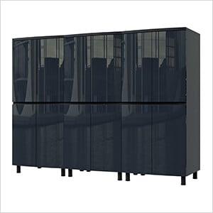7.5' Premium Karbon Black Garage Cabinet System