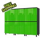 Contur Cabinet 7.5' Premium Lime Green Garage Cabinet System
