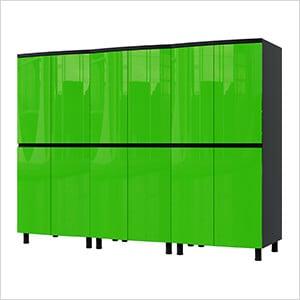 7.5' Premium Lime Green Garage Cabinet System