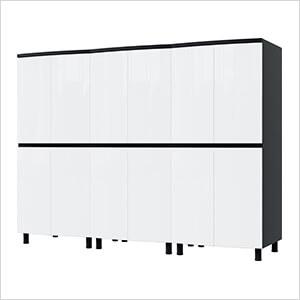 7.5' Premium Alpine White Garage Cabinet System