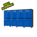 Contur Cabinet 10' Premium Santorini Blue Garage Cabinet System