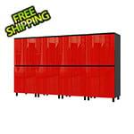 Contur Cabinet 10' Premium Cayenne Red Garage Cabinet System