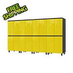 Contur Cabinet 10' Premium Vespa Yellow Garage Cabinet System