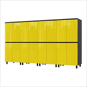 10' Premium Vespa Yellow Garage Cabinet System