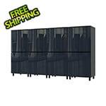 Contur Cabinet 10' Premium Karbon Black Garage Cabinet System
