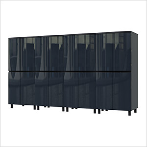 10' Premium Karbon Black Garage Cabinet System