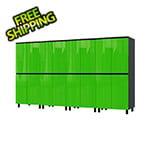 Contur Cabinet 10' Premium Lime Green Garage Cabinet System