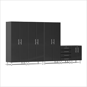 5-Piece Garage Cabinet System in Midnight Black Metallic