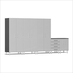 5-Piece Garage Cabinet System in Stardust Silver Metallic