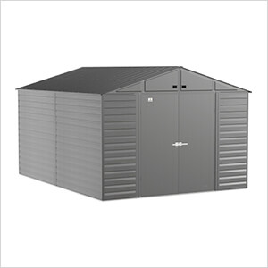 Select 10 x 14 ft. Storage Shed in Charcoal