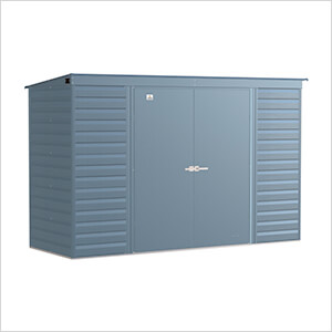Select 10 x 4 ft. Storage Shed in Blue Grey