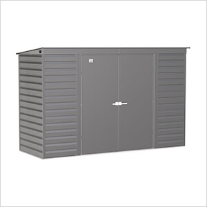 Select 10 x 4 ft. Storage Shed in Charcoal