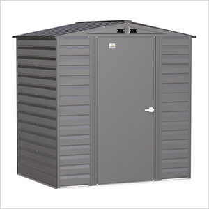 Select 6 x 5 ft. Storage Shed in Charcoal