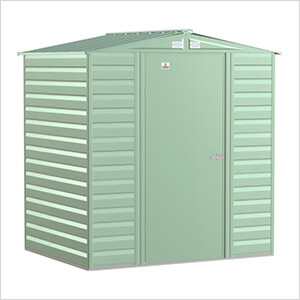 Select 6 x 5 ft. Storage Shed in Sage Green