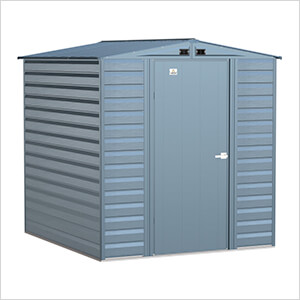 Select 6 x 7 ft. Storage Shed in Blue Grey