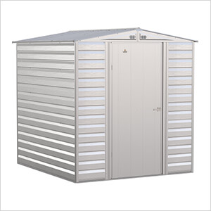 Select 6 x 7 ft. Storage Shed in Flute Grey