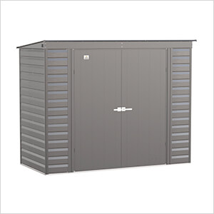 Select 8 x 4 ft. Storage Shed in Charcoal