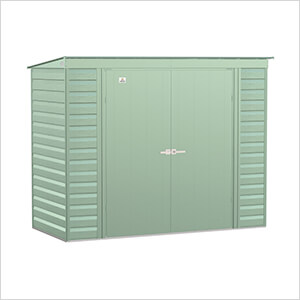 Select 8 x 4 ft. Storage Shed in Sage Green