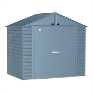 Select 8 x 6 ft. Storage Shed in Blue Grey