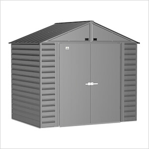 Select 8 x 6 ft. Storage Shed in Charcoal
