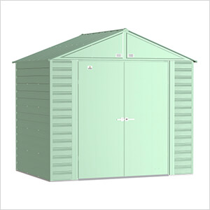 Select 8 x 6 ft. Storage Shed in Sage Green