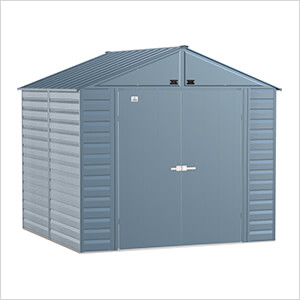 Select 8 x 8 ft. Storage Shed in Blue Grey