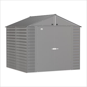 Select 8 x 8 ft. Storage Shed in Charcoal