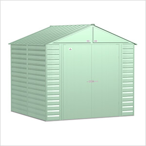 Select 8 x 8 ft. Storage Shed in Sage Green