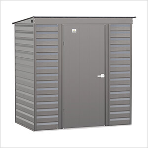 Select 6 x 4 ft. Storage Shed in Charcoal