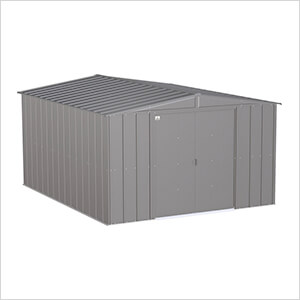Classic 10 x 12 ft. Storage Shed in Charcoal