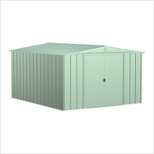 Classic 10 x 12 ft. Storage Shed in Sage Green