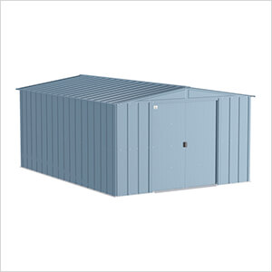 Classic 10 x 14 ft. Storage Shed in Blue Grey