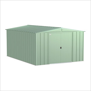 Classic 10 x 14 ft. Storage Shed in Sage Green