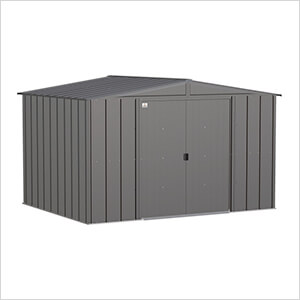Classic 10 x 8 ft. Storage Shed in Charcoal